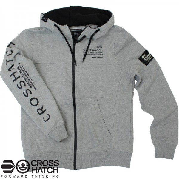 Crosshatch hooded zipvest grey marl