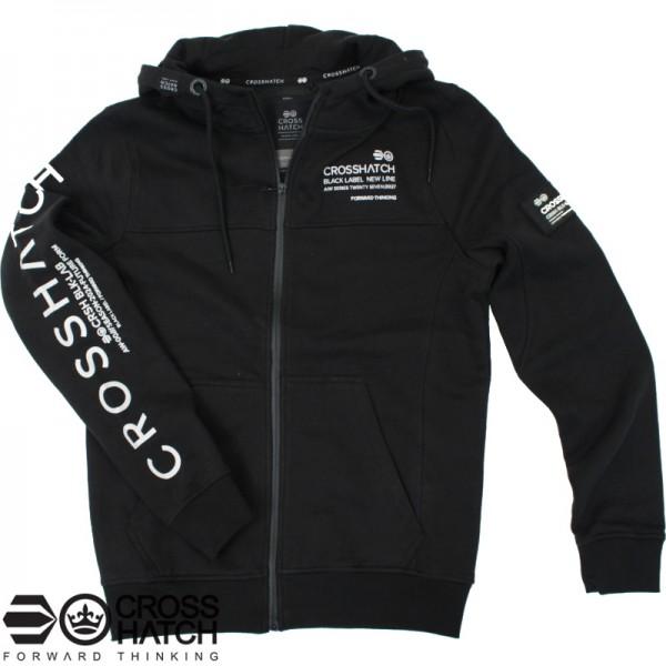 Crosshatch hooded zipvest zwart