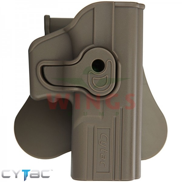 Rotating paddle holster voor Glock FDE