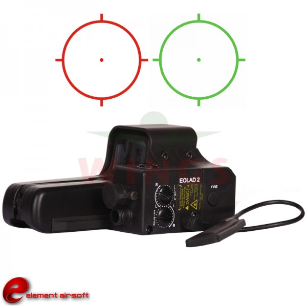 Holographic sight Eolad 2 met blue led en red laser