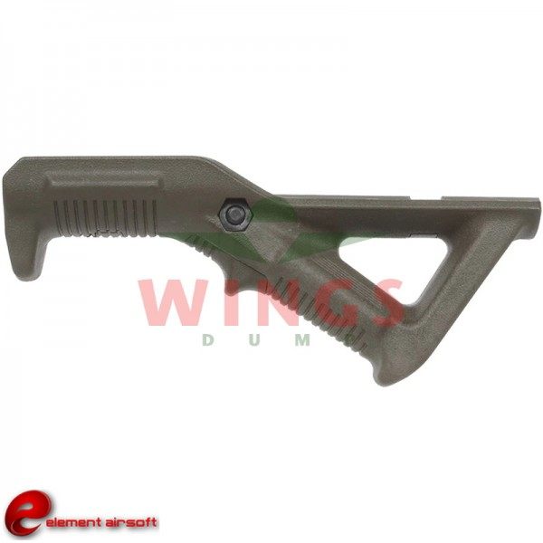 Angled foregrip forest green 14x5,5 cm.