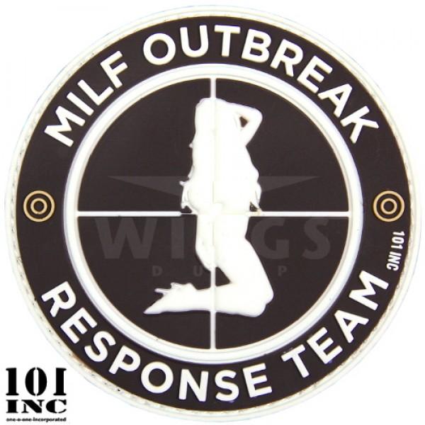 Embleem 3D pvc milf outbreak zwart