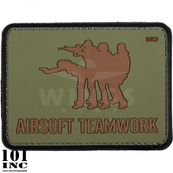 Embleem 3D pvc airsoft teamwork groen