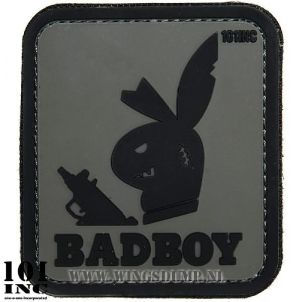 Embleem 3D pvc Badboy grijs/zwart