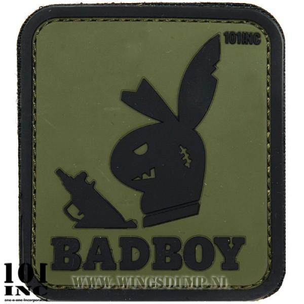 Embleem 3D pvc Badboy groen/zwart