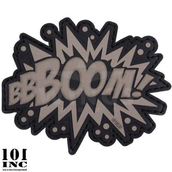 Embleem 3D pvc Boom ! grijs/zwart