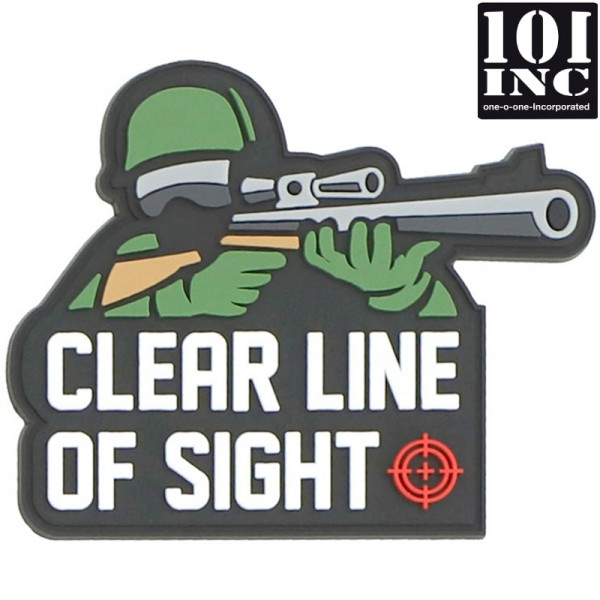 Embleem 3D pvc clear line of sight