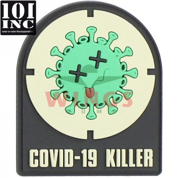 Embleem 3D pvc Covid-19 killer