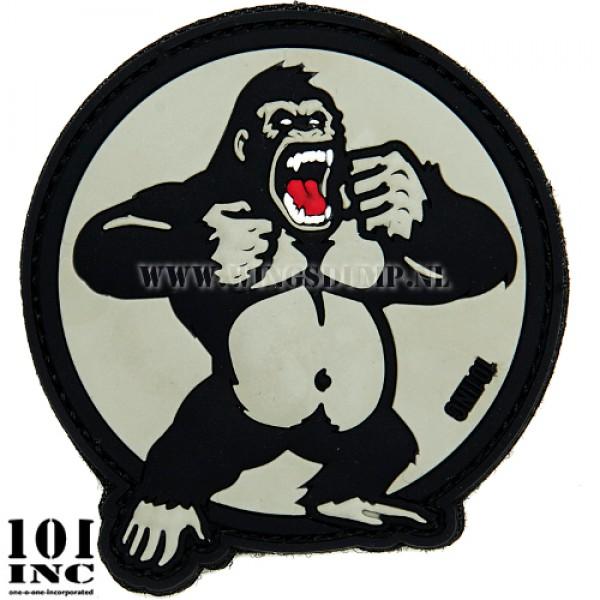 Embleem 3D pvc King Kong zwart/grey