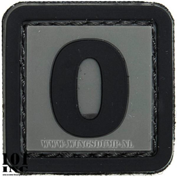Embleem 3d pvc zwart grijs nr. 0