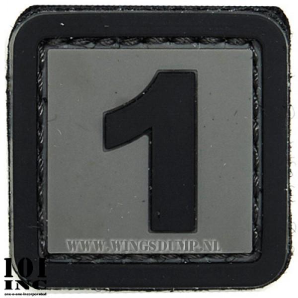 Embleem 3d pvc zwart grijs nr. 1