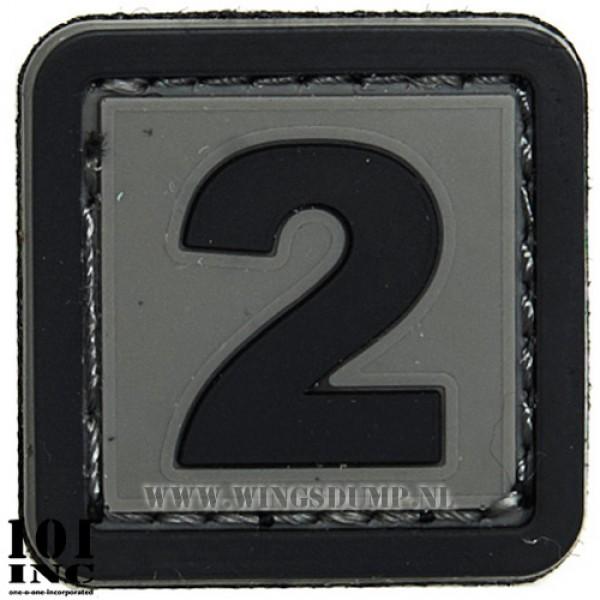 Embleem 3d pvc zwart grijs nr. 2