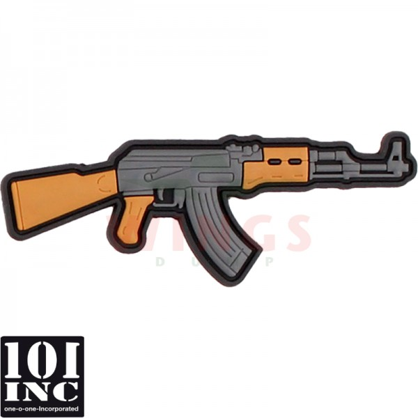 Embleem 3d pvc AK-47 cartoon