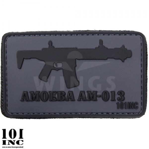 Embleem 3d pvc Amoeba AM-013 grijs