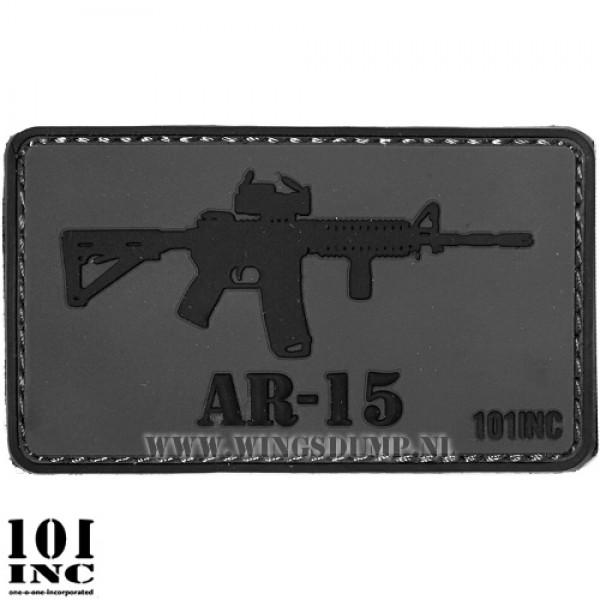 Embleem 3d pvc AR-15 grijs