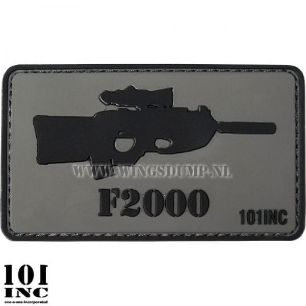 Embleem 3d pvc F2000 grijs