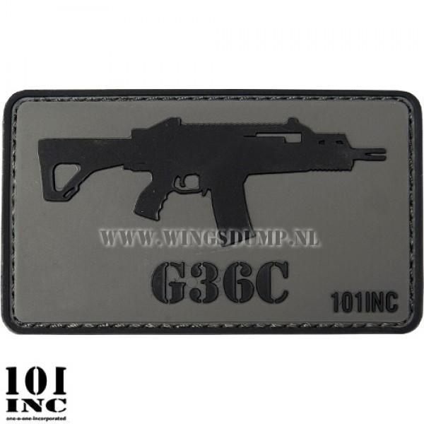 Embleem 3d pvc G36C grijs