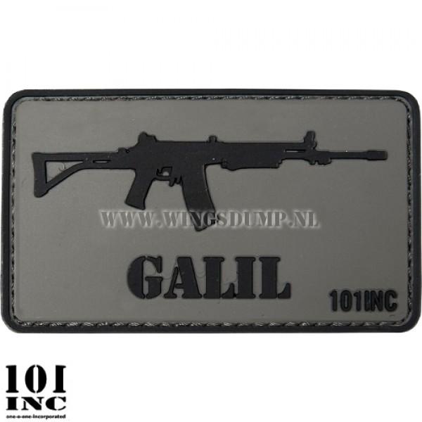 Embleem 3d pvc GALIL grijs