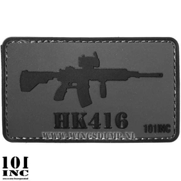 Embleem 3d pvc HK416 grijs