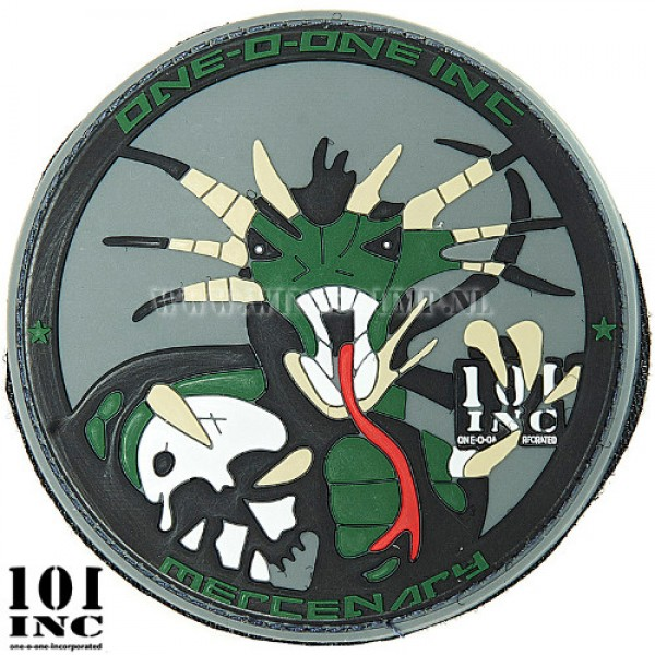 Embleem 3D pvc 101Inc. Mercenary