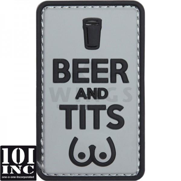 Embleem 3D pvc beer and tits grey