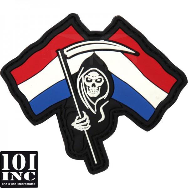 Embleem 3D pvc Dutch Reaper met vlag
