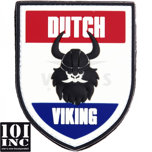 Embleem 3D pvc Dutch Viking wit