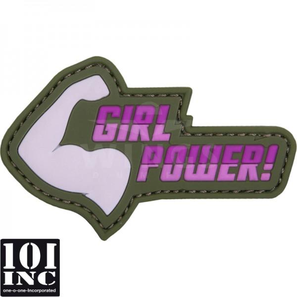 Embleem 3D pvc girl power roze