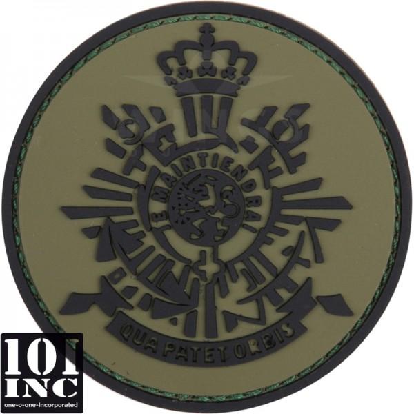 Embleem 3D pvc Korps Mariniers groen