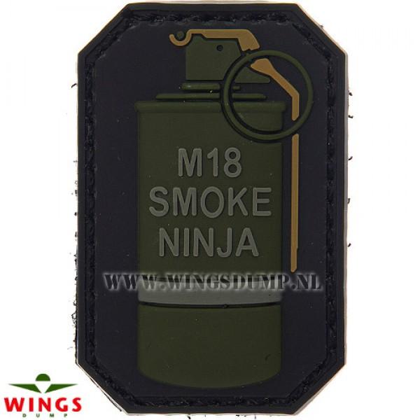 Embleem 3d pvc M18 smoke ninja groen