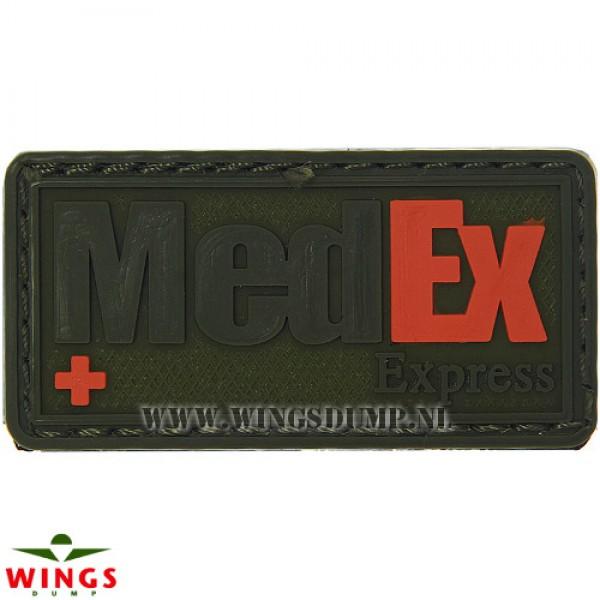 Embleem 3d pvc MedEx Express groen