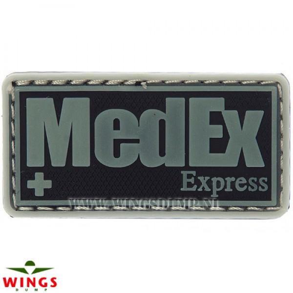 Embleem 3d pvc MedEx Express grijs/zwart
