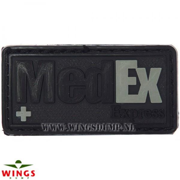Embleem 3d pvc MedEx Express zwart