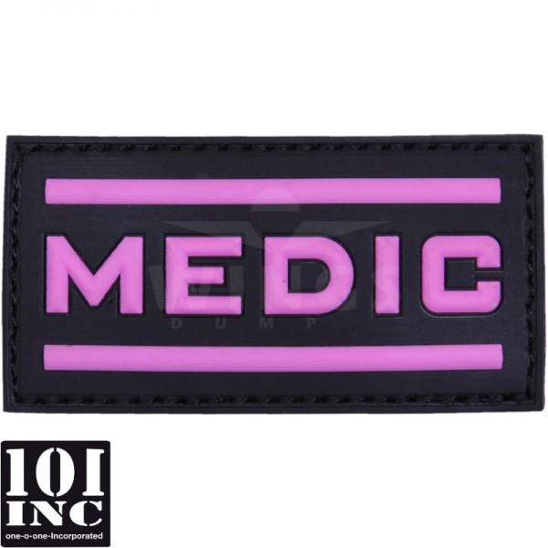 Embleem 3D pvc medic roze