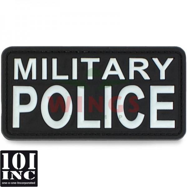 Embleem 3D pvc military police zwart