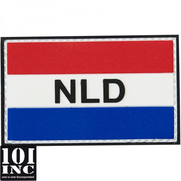 Embleem 3D pvc Nederland NLD groot