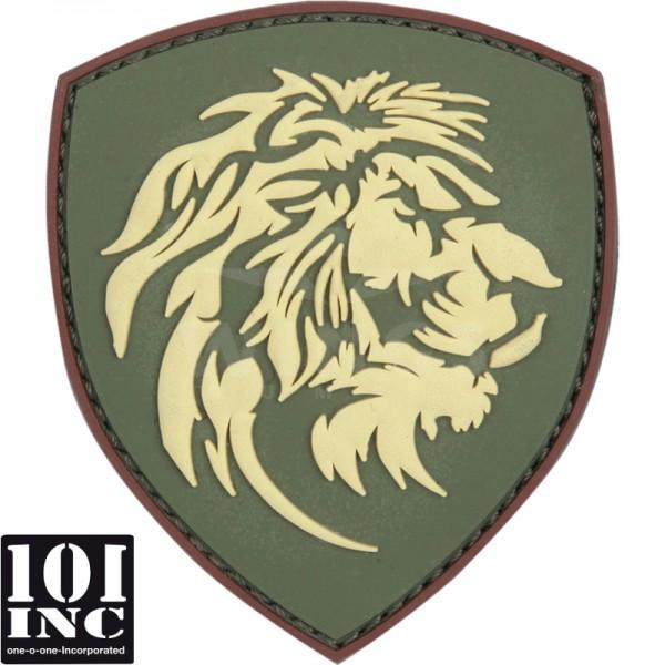 Embleem 3D pvc NL leeuwenkop groen