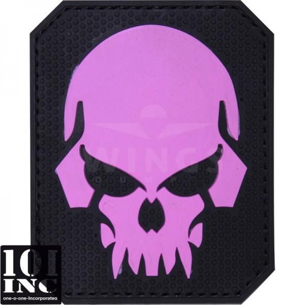 Embleem 3d pvc pirate skull roze