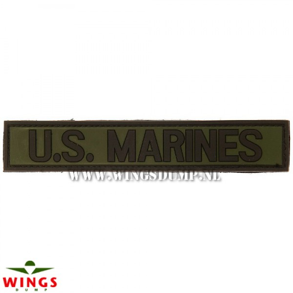 Embleem 3D pvc U.S. Marines groen