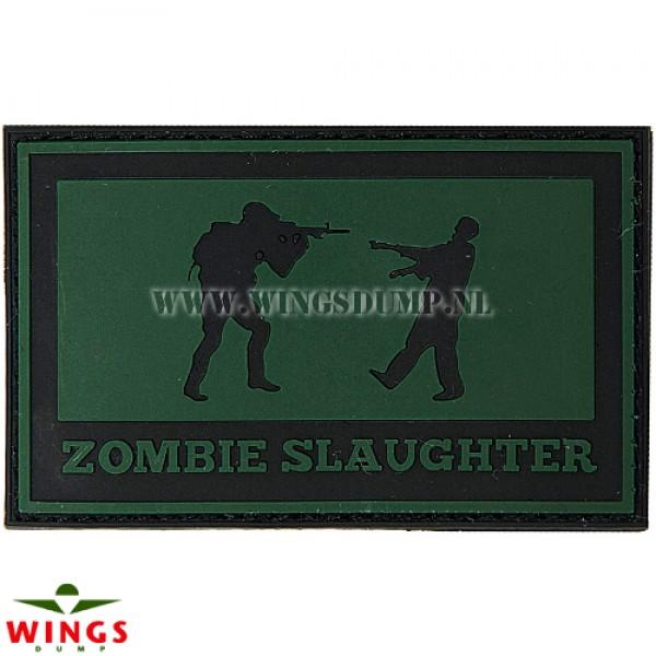 Embleem 3D pvc Zombie Slaughter groen