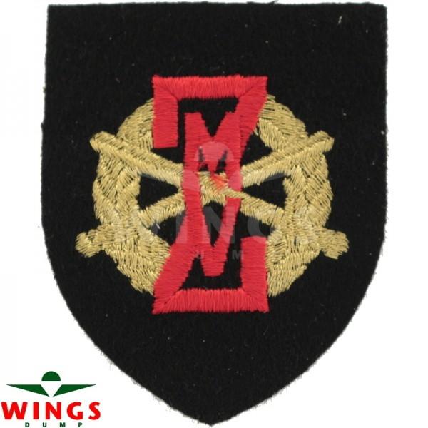 Embleem stof ZMV op zwart