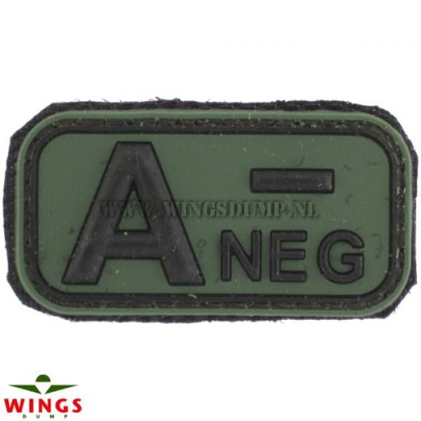 Embleem 3D pvc groen A-neg