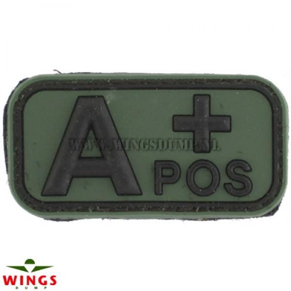 Embleem 3D pvc groen A-pos