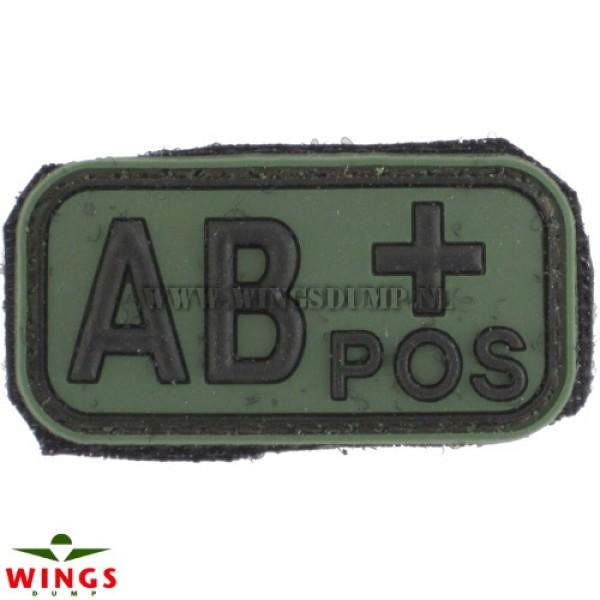 Embleem 3D pvc groen AB-pos
