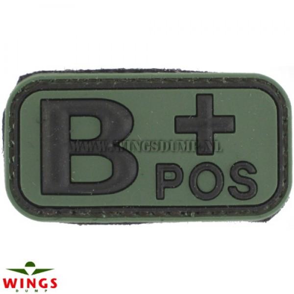 Embleem 3D pvc groen B-pos