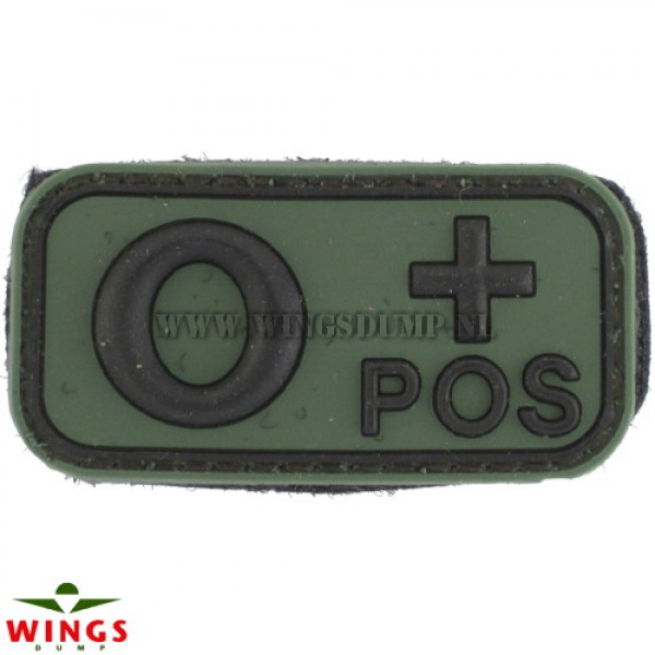 Embleem 3D pvc groen O-pos