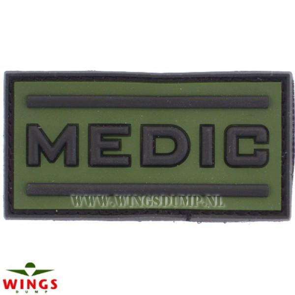 Embleem 3D pvc medic green