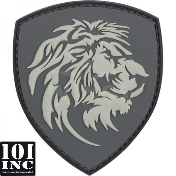 Embleem 3D pvc NL leeuwenkop grijs
