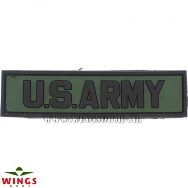 Embleem 3D pvc US army groen