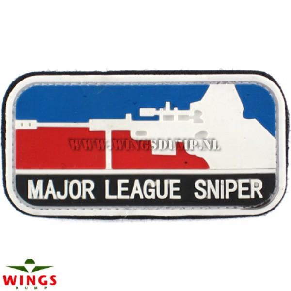 Embleem 3D pvc major league sniper red
